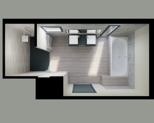 Votre avis sur notre salle de bain en 3d for Carreler une salle de bain