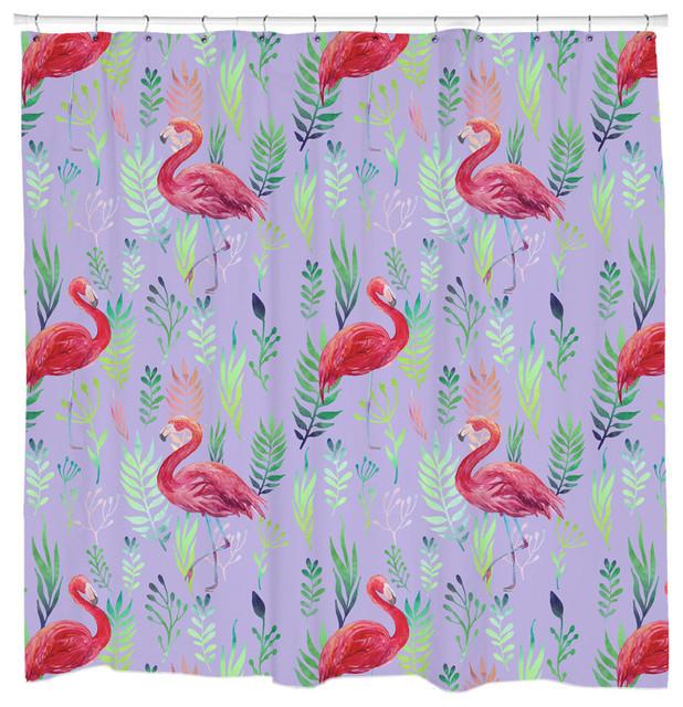 Flamingo Spotting Shower Curtain