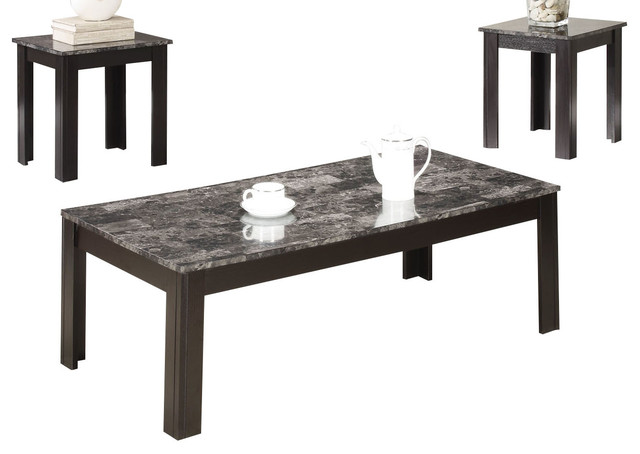 Coaster 3 Piece Occasional Set, Black