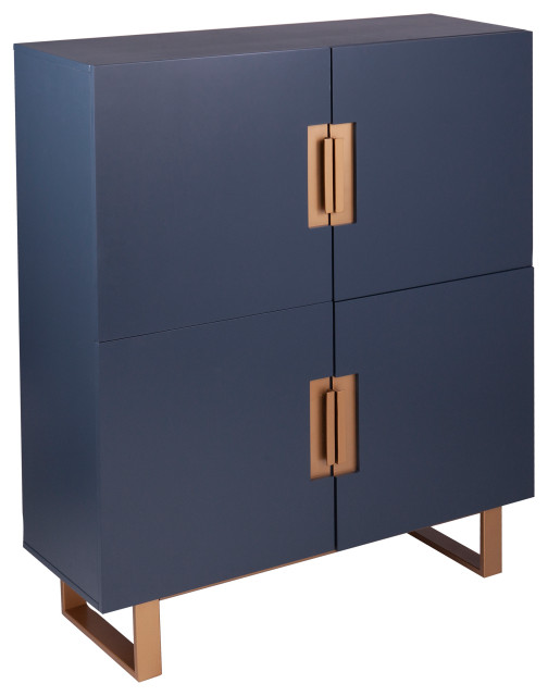 Holly And Martin Hanzman Blue Accent Cabinet Contemporary Accent Chests And Cabinets By Sei