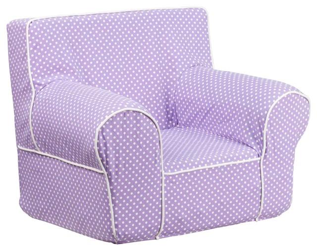 Kids Foam Chair Comfortable Foam Insert, Lavender/White Modern Kids Chairs