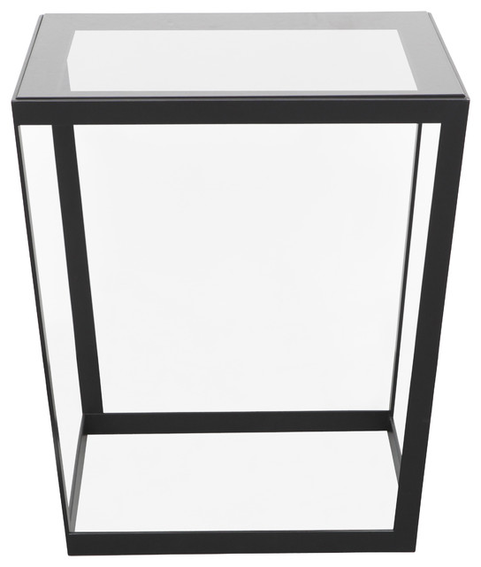 Frame Side Table, Black/Smoked Contemporary Side Tables And End
