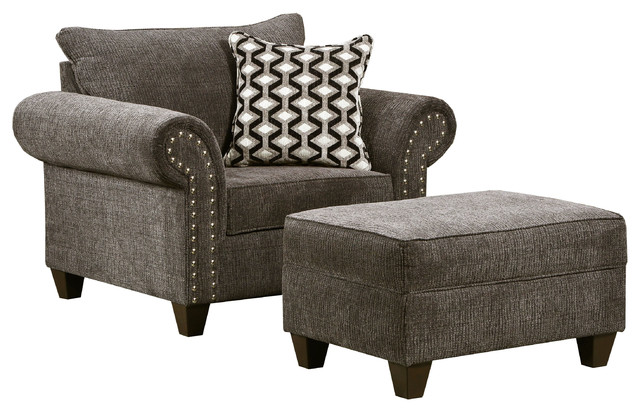 Reed Charcoal Storage Ottoman by Lane Home Furnishings