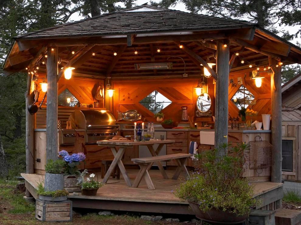 Rustic Outdoor Kitchen Gazebo