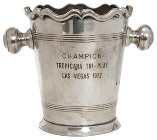 Consigned Mid-Century Trophy Cooler - Traditional - Ice Tools And Buckets - by MONTAGE Modern Home