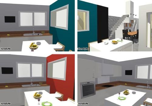 Cuisine choix cr dence et couleur mur - Couleur de cuisine mur ...