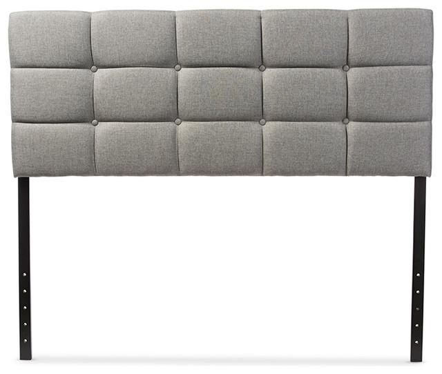 Baxton Studio Bordeaux Modern And Contemporary Fabric Headboard, Queen.