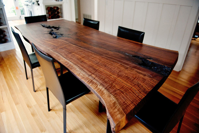 Live Edge Wood Slab amp Pipe Dining Room Table