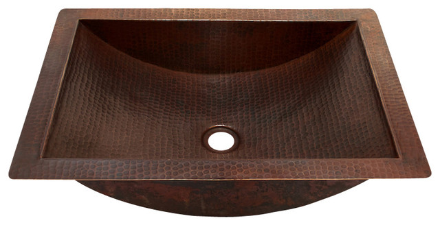 Rectangular Undermount Bathroom Copper Sink Rustic Bathroom Sinks By Artesano Copper Sinks Houzz