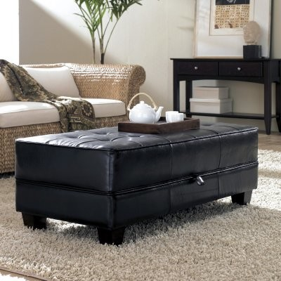 Magnificent Riverside Saxon Faux Leather Large Cocktail Storage Ottoman Coffee Table Gmtry Best Dining Table And Chair Ideas Images Gmtryco