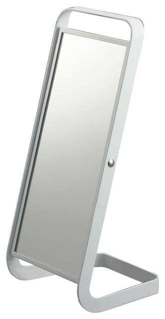 Tower Stand Mirror, White