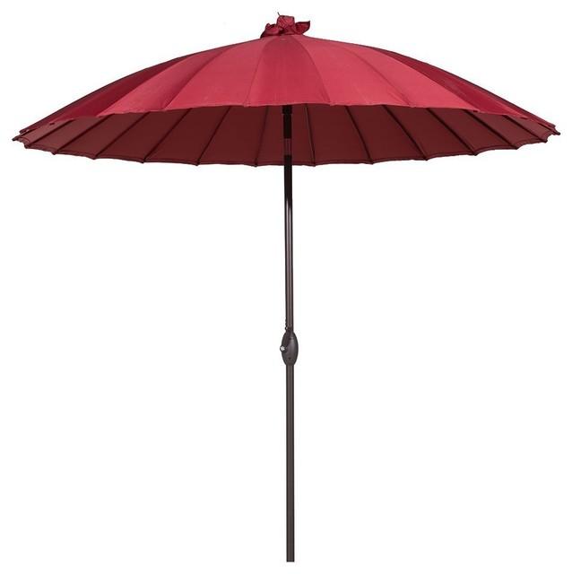 Abba Patio 8 5 Round Parasol Patio Umbrella Tilt And