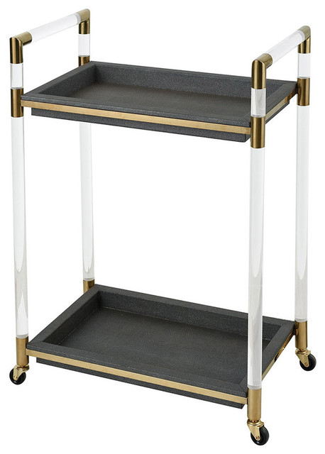 Bullion Bar Wine Cabinets Carts Acrylic With Gold Plate And