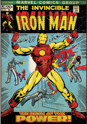 Invincible Iron Man Comic Book Cover Large Wall Accent ...