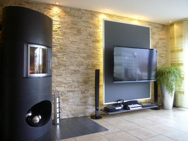 Umgestaltung Einer Kamin  Und TV Ecke