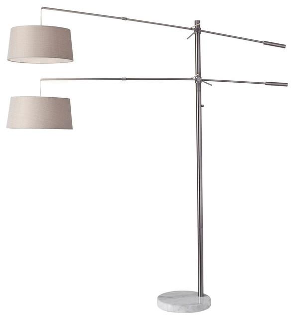 Manhattan Two-Arm Arc Lamp