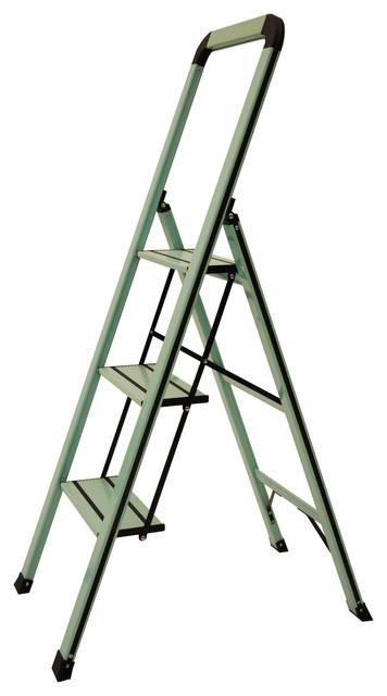 designer series slim 3step ladder teal