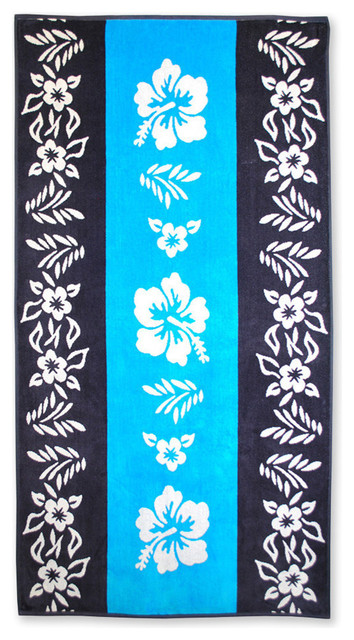 Cotton Beach Towel - Various Styles And Designs, Hibiscus Flower.
