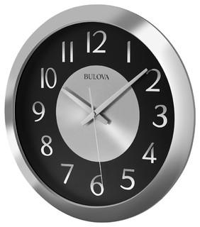 Music Streamer Bluetooth Enabled Wall Clock - Industrial - Wall Clocks - by Bulova
