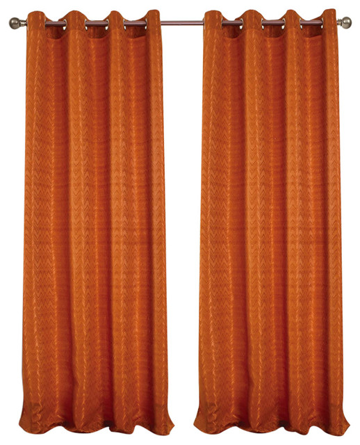 Rt Designers Luxe Grommet Window Curtain Panel, Ginger, 54x90&x27;&x27;.