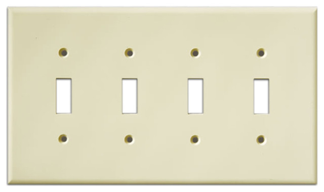 Gentil InvisiPlate Four Toggle Paintable Plate Cover, Smooth