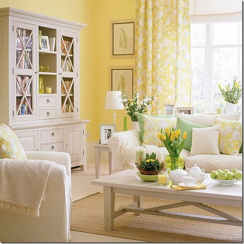 Yellow Room traditional living room