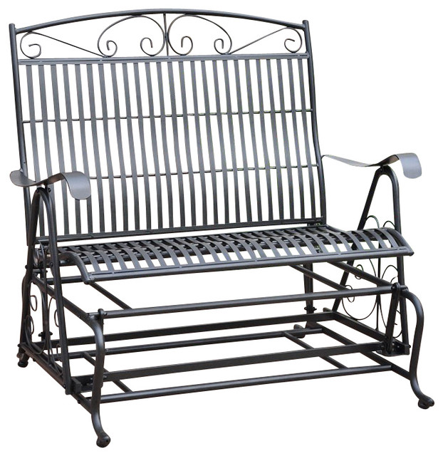 Exceptional International Caravan Sonoma Outdoor Iron Patio Double Glider  Transitional Outdoor Gliders