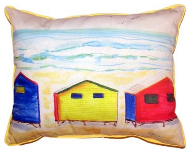 Large Decorative Outdoor Pillows : Beach Bungalows Extra Large Zippered Indoor/Outdoor Pillow - Contemporary - Outdoor Cushions And ...