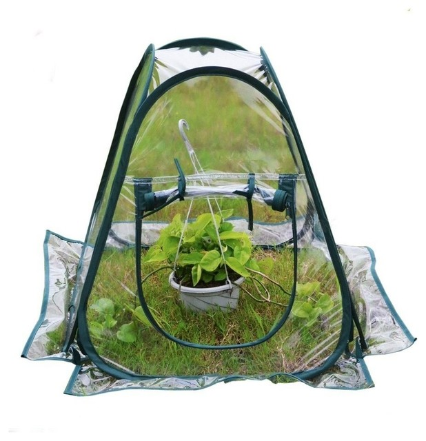Mini Pop Up Greenhouse Small Indoor Outdoor Gardening Flowerpot Cover.