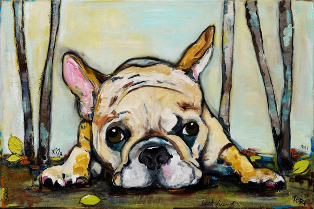 """""""smushy"""" Painting Print On Canvas By Tori Campisi."""