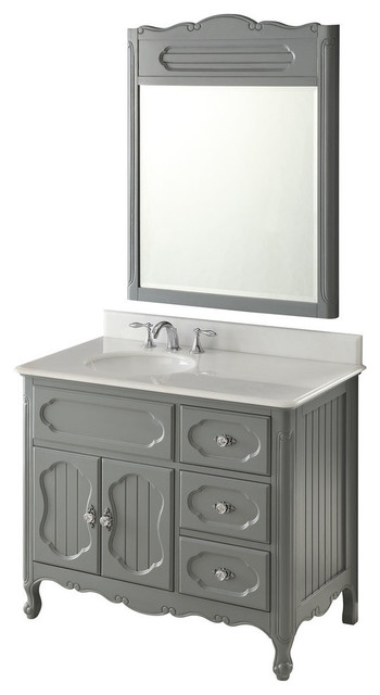 Amazing 42 Cottage Style Knoxville Bathroom Sink Vanity With Mirror Download Free Architecture Designs Jebrpmadebymaigaardcom