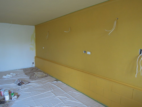 Complementary colour for the gold(ish) walls in my living room?