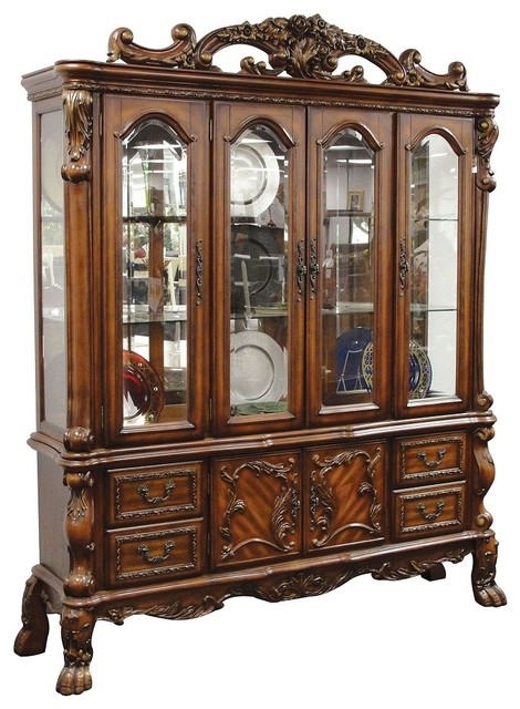 Dresden Elegant Formal Dining Room Hutch and Buffet - Traditional ...