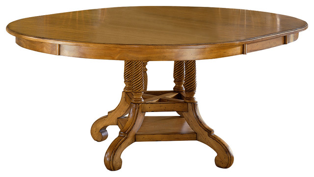 Wilshire round oval dining table without chairs for Dining table without chairs