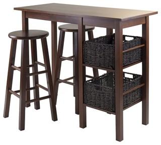 3-Pc Contemporary Pub Table Set