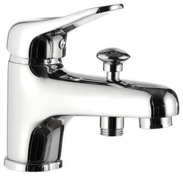 deck mounted tub filler with diverter chrome