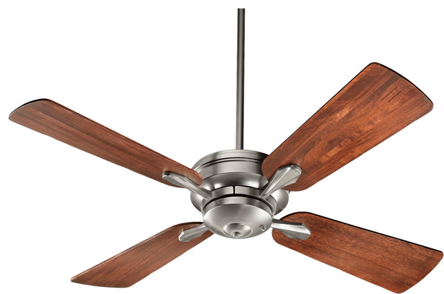 "Quorum Valor 52"" Ceiling Fan, Satin Nickel."