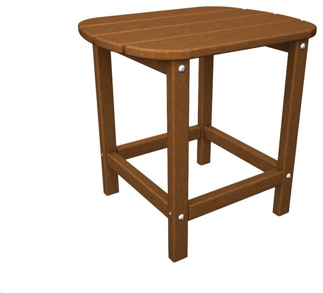 Polywood South Beach 18 Side Table, Teak.