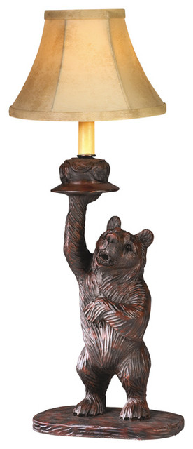 Right Honey Pot Bear Lamp Rustic Table Lamps By Lodgeandcabins