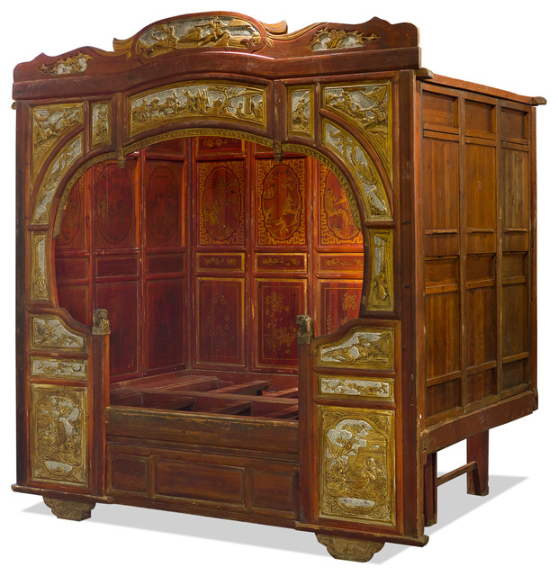 Imperial Palace Chinese Canopy Bed