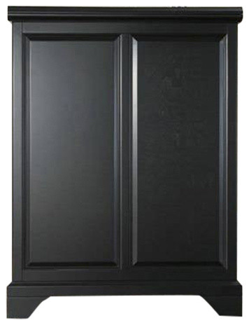 Crosley LaFayette Expandable Bar Cabinet - Wine And Bar Cabinets ...