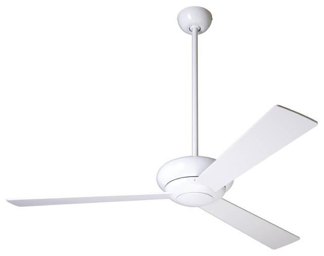 Modern Fan Company Altus Gloss White 42 Ceiling Fan + Wall Control.