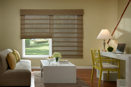 Bali Economy Woven Wood Shades From Blinds Modern Living Room
