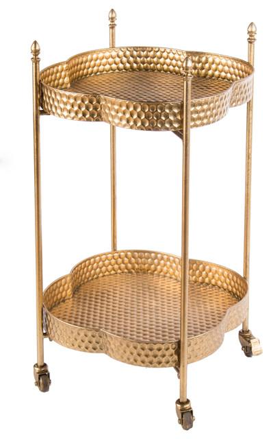 Clover Gold Bar And Serving Cart