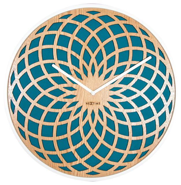 Big Sun Wall Clock, Turquoise