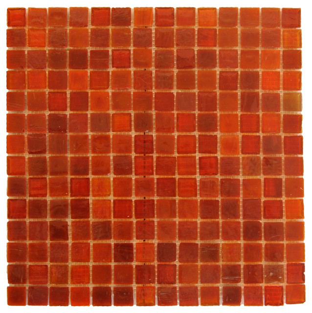 Red Sny Gl Mosaic Wall Tile 12 X12 13 Single Sheet