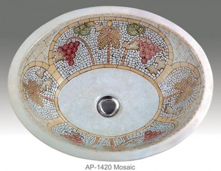 mosaic bathroom sinks mosaic design painted undermount lavatory sink 13767