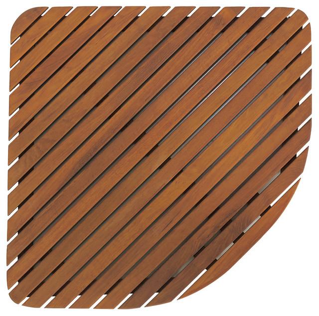 dania corner shower mat solid teak wood - Teak Shower Mat