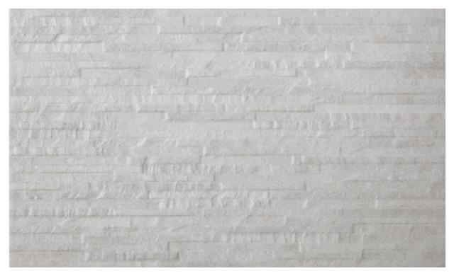 Splitface Wall Tiles, White, Set of 5 m²
