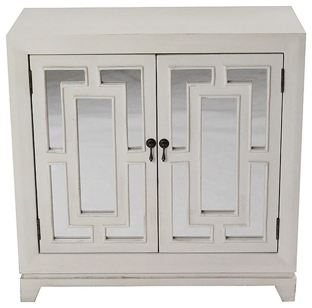 Geo 2-Door Sideboard With Mirror Inserts - Transitional - Buffets And Sideboards - by VirVentures